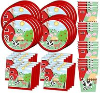 Barnyard Farm Animals Birthday Party Supplies Set Plates
