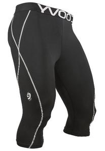 Men COOVY Sports Compression Under Base Layer 3/4 Tights