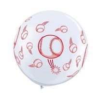 "36"" Baseball Latex Balloon 2 Count"