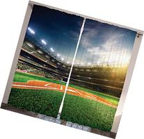 Baseball Sports Lovers Fans Decor Hobby Curtain Funny