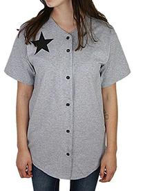 YogaColors Unisex Baseball Star Button Down Short Sleeve