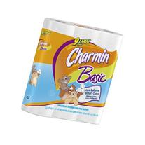 Charmin Basic 9 Large Rolls, 253 1-Ply Sheets per Roll