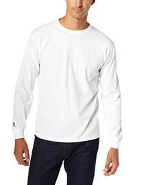 Russell Athletic Men's Basic Cotton Long Sleeve Tee, White,
