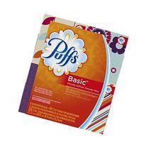 Puffs Basic Facial Tissues, 24 Cube Boxes