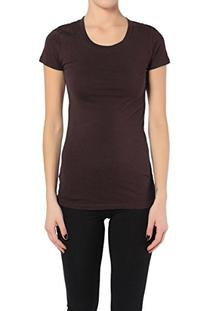 TheMogan Women's Basic ROUNDNECK TEE Stretch T-Shirts TOP-