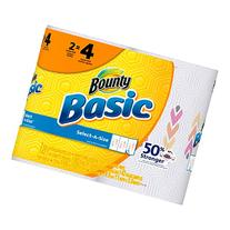 Bounty Basic Double Roll Select-a-Size Paper Towels, Prints