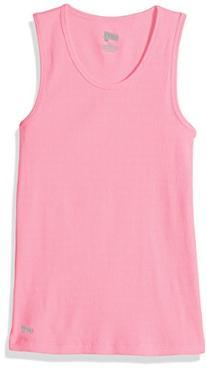 Soffe Big Girls' Basic Tank, Pink, SML