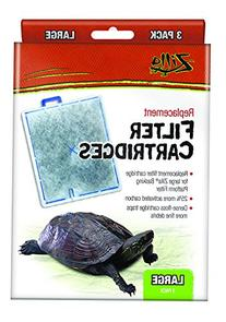 Zilla Reptile Terrarium Filter Replacement Cartridges, Large