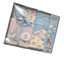 Baby 7 Piece Bath Gift Set - Includes 1 Embroidered Creeper