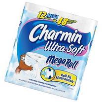Charmin Bath Tissue Toilet Paper Ultra Soft 12 MEGA Rolls