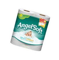 Angel Soft Bathroom Tissue, Unscented, 4 Count