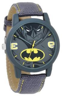 Batman Kids' BAT9041 Grey Canvas Batman Strap Watch