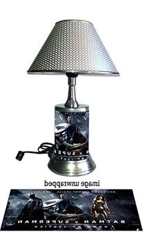 Batman Superman Lamp with chrome shade, Dawn of Justice