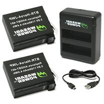 Wasabi Power Battery  and Dual Charger for GoPro HERO4 and