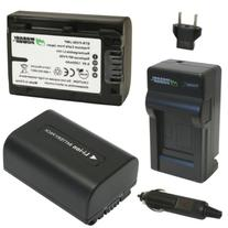 Wasabi Power Battery  and Charger for Sony NP-FV30, NP-FV40