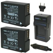 Wasabi Power Battery  and Charger for Panasonic DMW-BLC12,