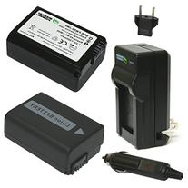 Wasabi Power NP-FW50 Battery  and Charger for Sony Alpha a5100, a6000, a6300, a6400, a6500, Alpha a7, a7 II, a7R, a7R II, a7S, a7S II, Cyber-Shot DSC-