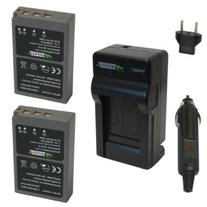Wasabi Power Battery  and Charger for Olympus BLS-5, BLS-50