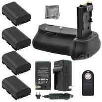Battery Grip Bundle F/ Canon EOS 6D: Includes BG-E13