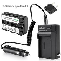 NEW Battery + Charger + car plug for SONY CyberShot DSC-F707
