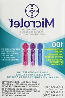 Bayer Microlet Colored Lancets - 100 ct