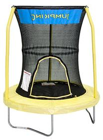 JumpKing Bazoongi Trampoline with 3 Poles Enclosure System,
