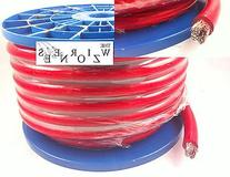The Wires Zone BC1/0R-50 1/0 Gauge 50' Feet Power Wire Cable