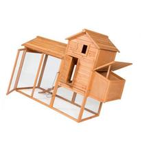 "BCP 80"" Wooden Chicken Coop Backyard Nest Box Wood Hen House"