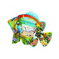 Beachfront Tropical Fish Shaped Jigsaw Puzzle 1000 Piece