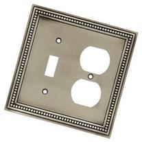Beaded Single Switch/Duplex Wall Plate - Finish: Brushed
