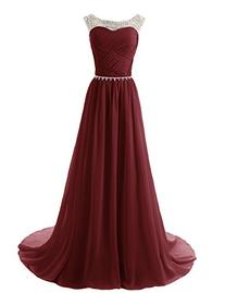 Dressystar Beads Bridesmaid Dresses Pleated Prom Gowns Size