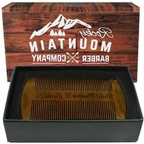 Beard Comb - Natural Sandalwood for Hair with Scented
