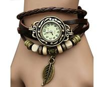 Tricess BeautyLife Weave Wrap Around Leather Bracelet Lady