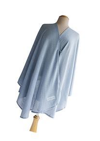 Primo Bebitza Textured Knit Nursing Cover, Blue