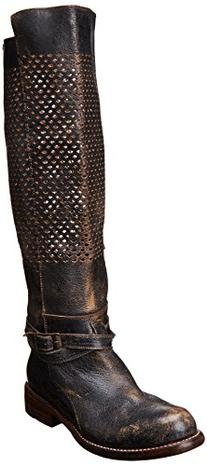 Bed Stu Women's Biltmore Motorcycle Boot,Black,6.5 M US