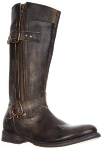 Bed Stu Womens Gogo Black Hand Wash Motorcycle Boot 8M