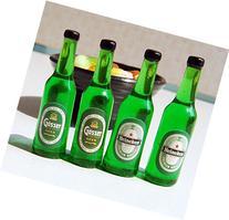 4pcs Beer Wine Juice Bottles Cup 1:12 Liquor Drink Miniature