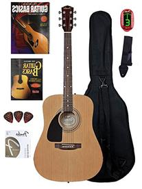 Fender Beginner Acoustic Guitar with Instructional DVD and