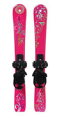 Lucky Bums Kids' Beginner Snow Skis, Pink Paisley - 70