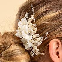 Remedios Bridal Flower Side Hair Comb Wedding Accessory