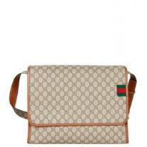 Gucci Beige GG Supreme Fabric Messenger Bag