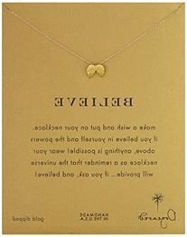 "Dogeared ""Reminders"" Believe Gold Angel Wings Pendant"