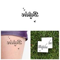 Believe Temporary Tattoo - Fly Birds  - Other Styles