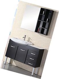 Design Element Belini Single Sink Vanity Set, 46-Inch