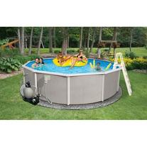 BELIZE 15-FT ROUND 52-IN DEEP 6-IN TOP RAIL METAL