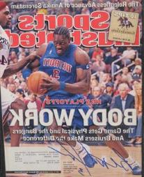 Ben Wallace autographed Sports Illustrated Magazine