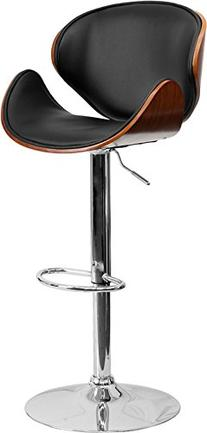 Flash Furniture Bentwood Curved Adjustable Vinyl Seat Bar