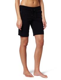 Danskin Women's Essentials Bermuda Short, Black, Medium