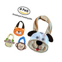 Baby Bibs Set of 4 Animals. The Best Baby Gifts! These are