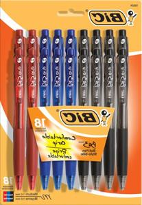 BIC BU3 Retractable Ball Pen, Medium Point , Assorted Colors